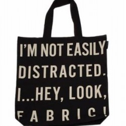"NOT EASILY DISTRACTED TOTE BAG 17"" x 14"""