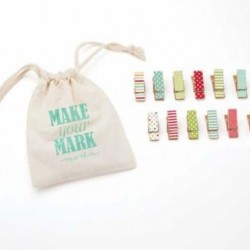 MINI CLOTHESPINS -  MAKE YOUR MARK BRIGHTS(12)