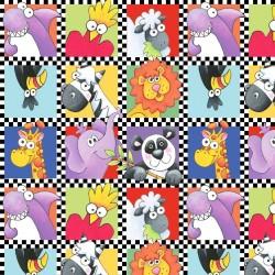 Animal Motifs Small Squares - MULTI