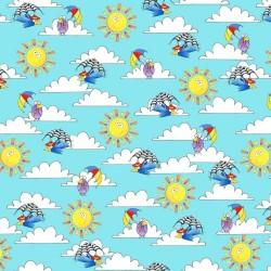Sky, Clouds, Sun - LT BLUE