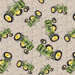 Tractor Tossed Allover - ECRU