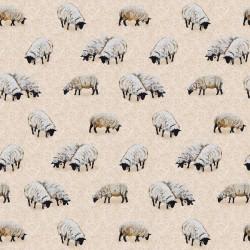 Allover Sheep - ECRU