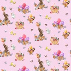 Bunny and Basket - PINK