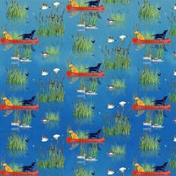 Canoes and Dogs - BLUE