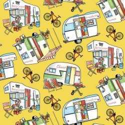CAMPERS & BIKES - YELLOW