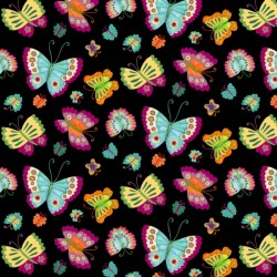 BUTTERFLIES - BLACK