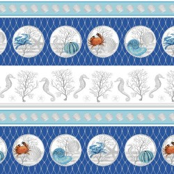 Crustaceans Border Stripe - BLUE