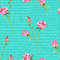 WORDS & ROSES - AQUA