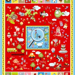 I Spy Panel (90cm) - RED