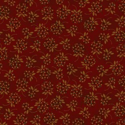 Star Dot Floral - RED
