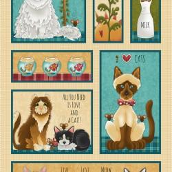 Cat Banner Panel (60cm) - CREAM