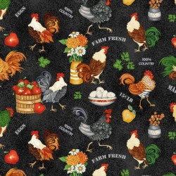 Roosters & Chickens - BLACK