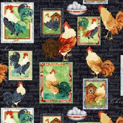 Roosters Patch - BLACK