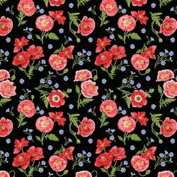 Tossed Poppies - BLACK