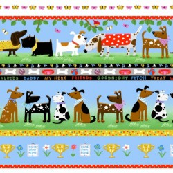 DOGS BORDER - BLUE