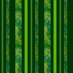 CELTIC BORDER STRIPE - EMERALD