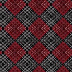 Geo Plaid - BLACK