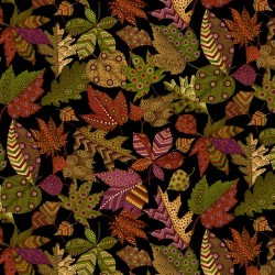 Patterned Leaves - BLACK