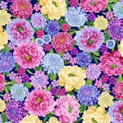 Large Floral Allover - ROYAL
