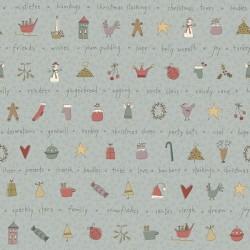 All For Christmas Stripe - LT BLUE