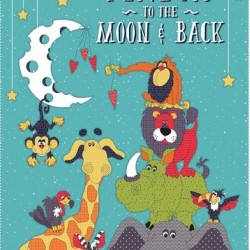 MOON & BACK BANNER PANEL (60CM)