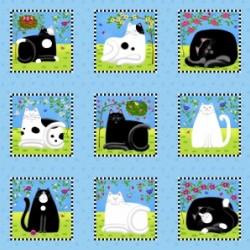 CAT  BLOCKS - SKY BLUE