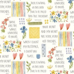 Flowers & Sayings - CREAM