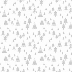Small Pine Trees - WHITE