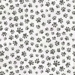 Paw Print Allover - WHITE