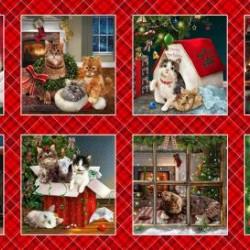 Fireside Kittens Christmas Panel (60cm)