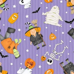 Halloween Motifs Glow in Dark - PURPLE
