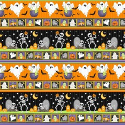 Halloween Stripe Glow in Dark - BLACK