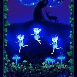 Fairies on the Meadow 60cm Panel Glow - MULTI