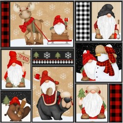Gnomes Patchwork - MULTI