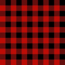 Buffalo Check - RED/BLACK
