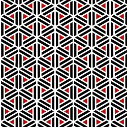 Geometric Triangles and Stripes - RED/BLACK
