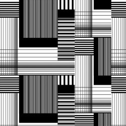 Patchwork Stripe Blocks - BLACK/WHITE