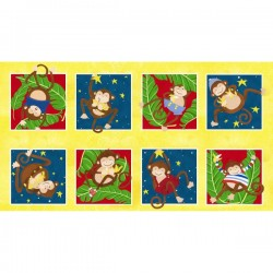 Panel - Monkey Blocks 60cm - MULTI