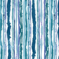 Watercolor Stripe - MULTI BLUES