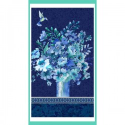Panel - Vase Bouquet 60cm - NAVY