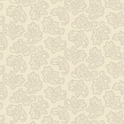 Dotted Paisley - CREAM
