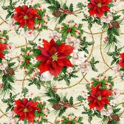Poinsettia Print - CREAM