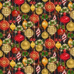 Allover Ornaments - BLACK