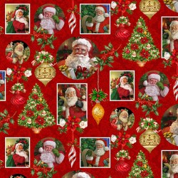 Santa Collage - RED