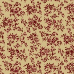 Red Delicate Floral - BEIGE