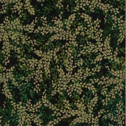 Fine Branches - DEEP EMERALD/GOLD