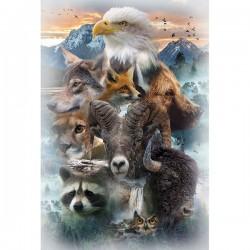 Panel - Animals 76cm - EARTH