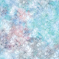 Dotted Line Flowers - HYDRANGEA