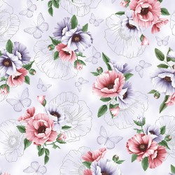 Flowers and Sketchings - LILAC SILVER