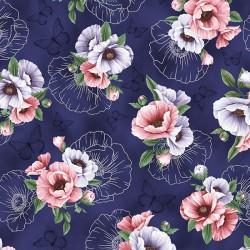 Flowers and Sketching - DEEP AMETHYST SILVER